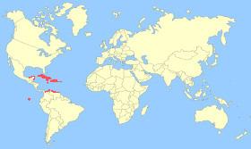 American Flamingo Map