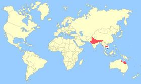 Sarus Crane Map